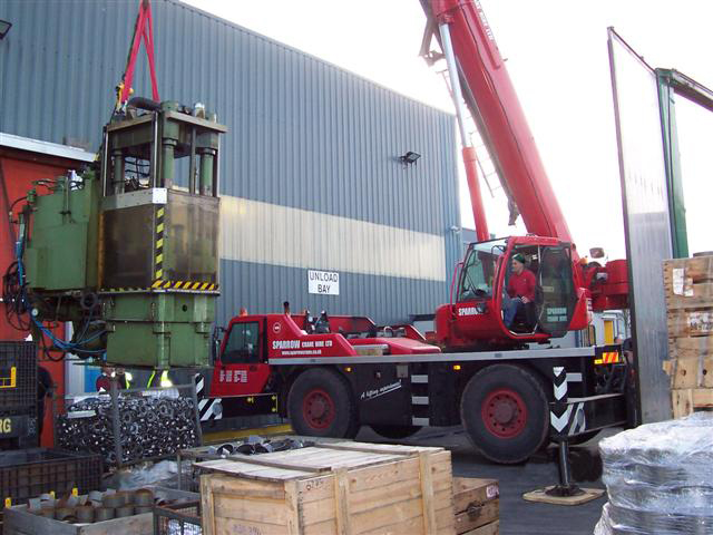 crane lift plant relocations
